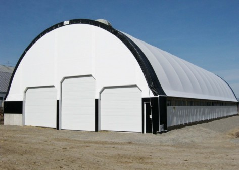 WI Fabric Building, Hoop Barns, Hoop Building, dairy barn, livestock building, livestock barn, beef barn, cattle building, cattle barn, cover all building, calhoun building, clear span building,